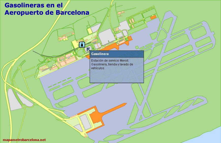 Mapa del aeropuerto de barcelona situaci n como llegar for Cajeros en el aeropuerto