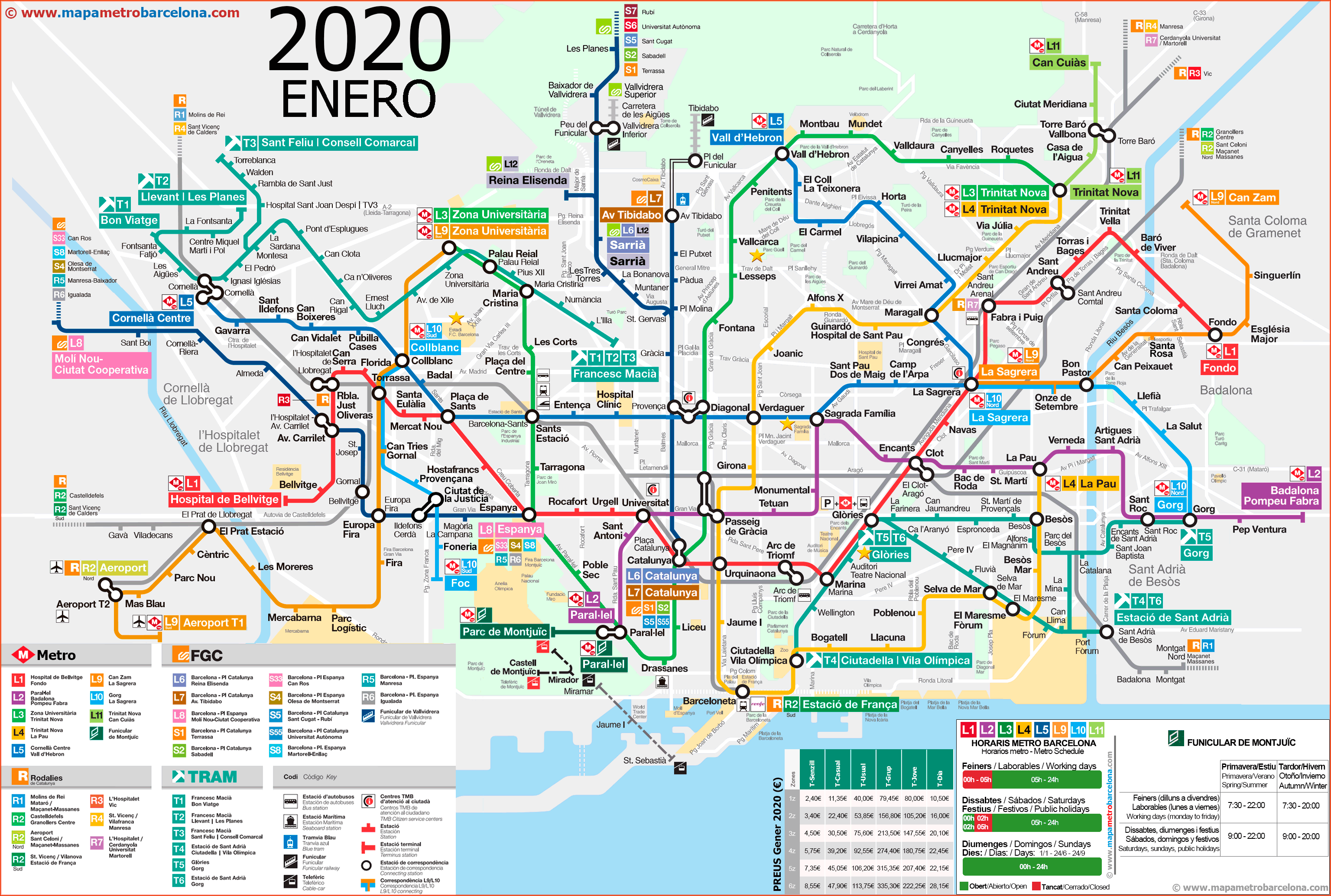Mapa Metro Barcelona 2019.Metro Map Of Barcelona Updated 2019