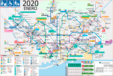 Barcelona metro map 2019 with elevators for travels