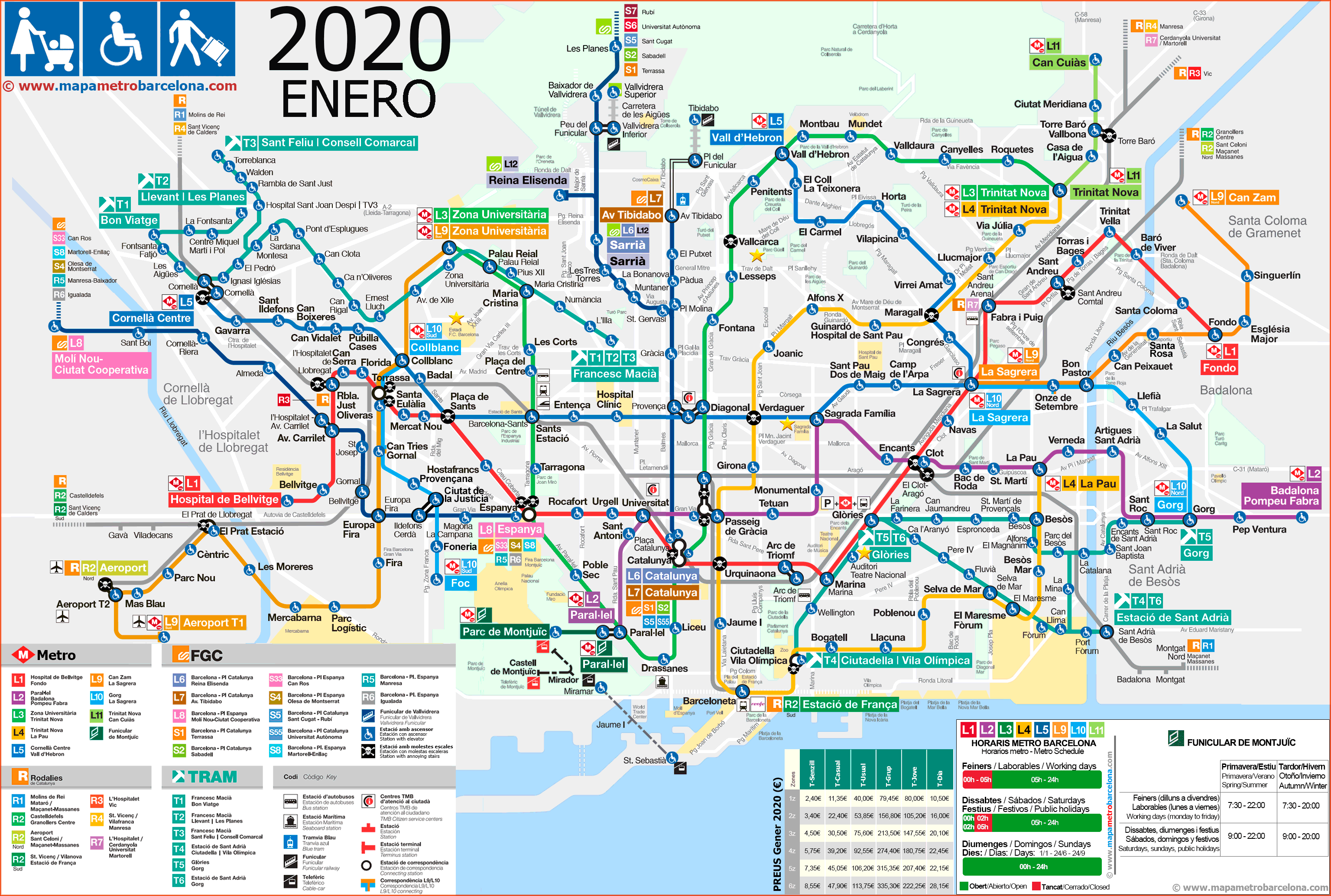 Metro map of Barcelona 2019 (the best)